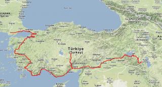 Track Log: Türkei